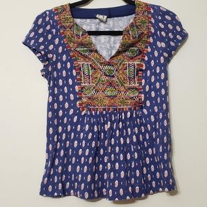 Anthropologie Akemi + Kim Embroidered Boho, sz XS